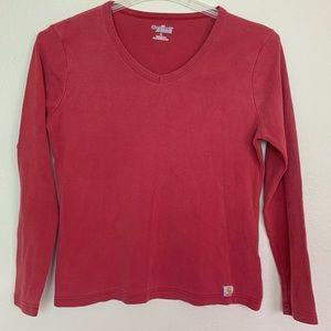 Carhartt Red Long Sleeve Shirt Top Women's Sz L. I